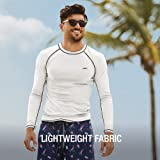 Speedo Men Easy Long Sleeve Swim Tee, White, Large