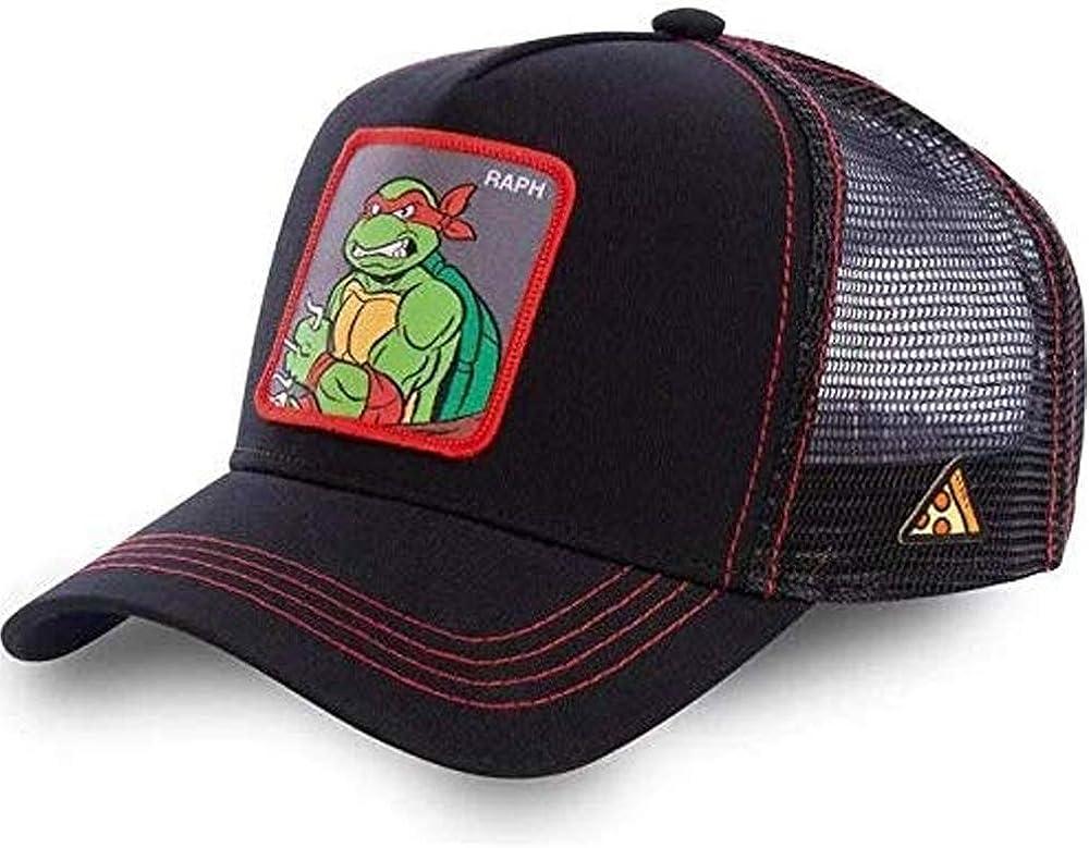 Gorra Visera Curva Trucker Tortugas Ninja Raphael Negra y roja ...
