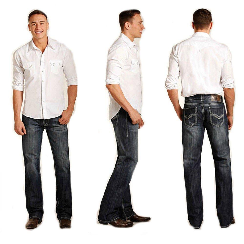 Rock /& Roll Denim Double Barrel Straight Raised Denim Jeans