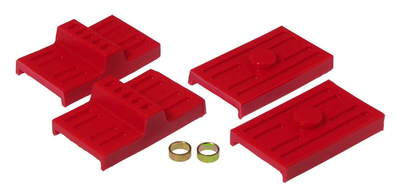 Prothane 7-1709 Red Rear Upper and Lower Multi Leaf Spring Pad Kit