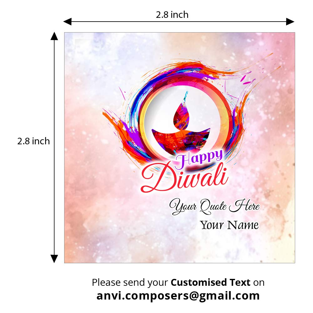 Personalized Traditional Diwali Festival Photograph Gift Tags Card Label For Party Wedding Birthday Return Thank You Pack Of 24 Design 02