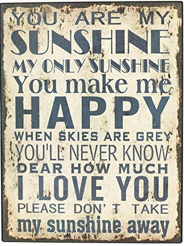 Amazoncom Uniquepig You Are My Sunshine Quotes Metal Signs Vintage