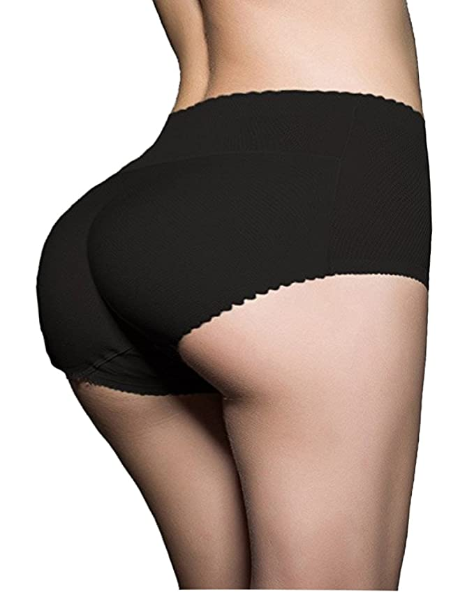 8c2bf8674 Amazon.com  DODOING Women Abundant Buttocks Pants Lady Push Up Middle Waist Butt  Hip up Padded Panties Butt Lift Underwear Seamless Bottom Sponge Briefs  ...