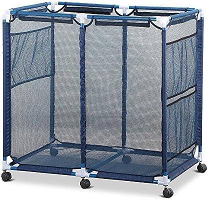 yaheetech resistente piscina de almacenamiento bin nadar playa carro de malla cesta para guardar gafas de natación/playa bolas/flotadores/nadar juguetes, 35, 8 x 24 x 35, 8 cm (LxWxH): Amazon.es: Jardín