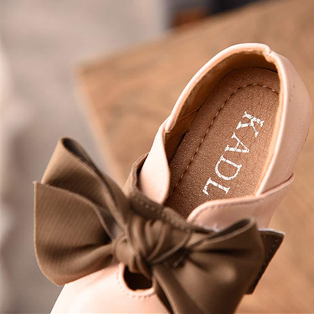 BININBOX Kids Bowknot Girls Dress Shoes Pearl Flat Girls Shoes Princess
