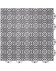 Andiamo 202403 - Set de baldosas de plástico para suelo, 38 x 38 cm, 7 unidades, 1 m², color verde