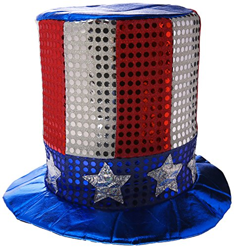 [Glitz 'N Gleam Uncle Sam Top Hat Party Accessory (1 count)] (Patriotic Group Costumes)
