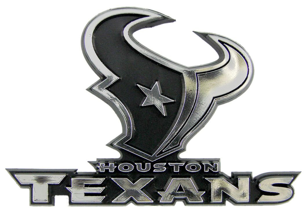 Amazon com nfl houston texans chrome automobile emblem national football league sports outdoors
