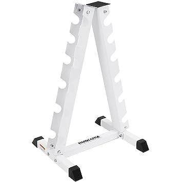 Soporte vertical blanco para mancuernas Hardcastle: Amazon.es: Deportes y aire libre