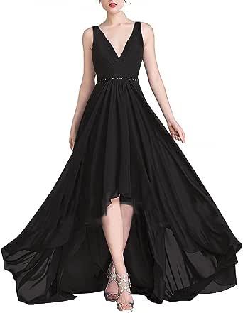 RJOAM Asymmetrical Prom Dresses Chiffon Wedding Party