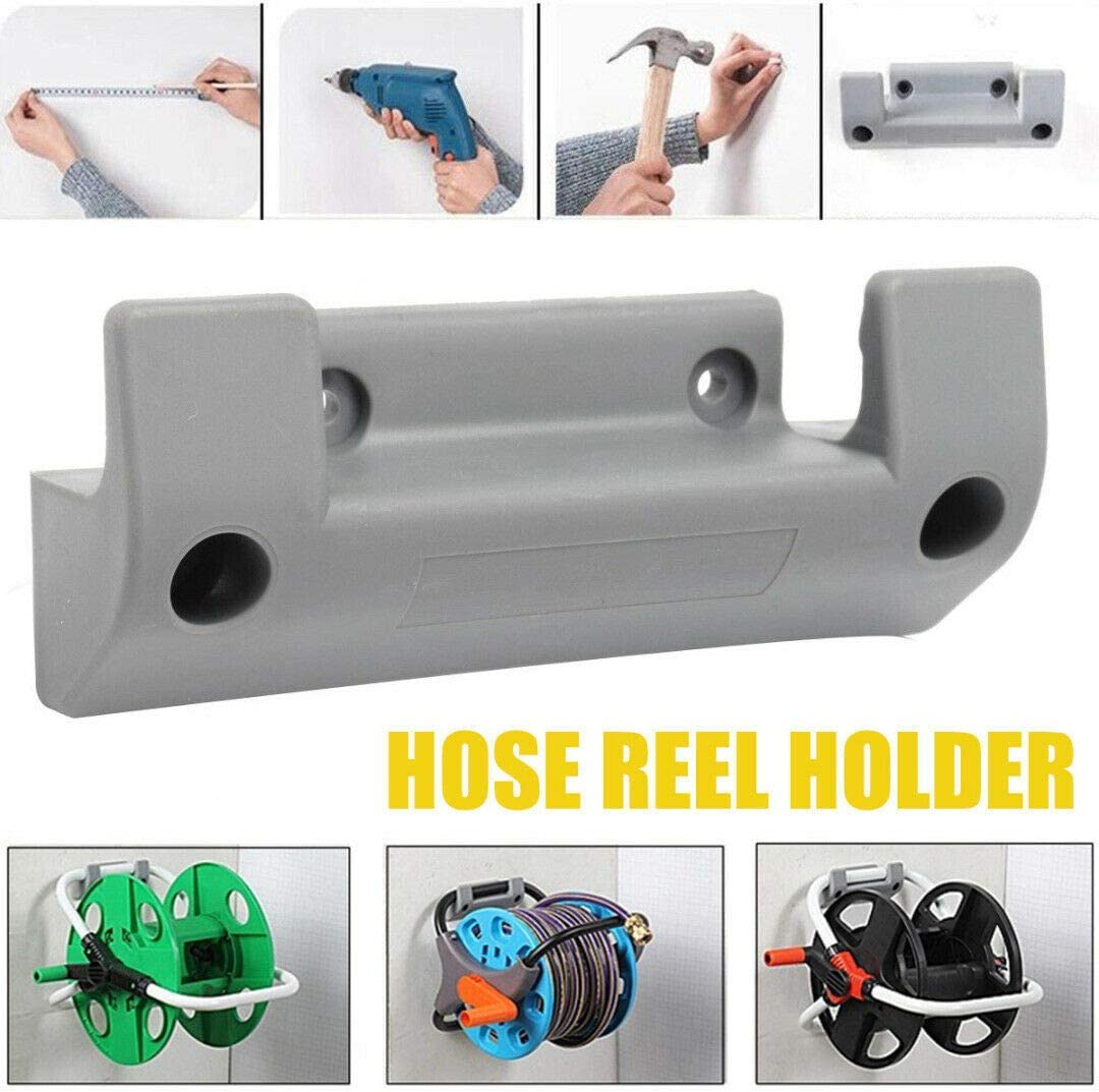 Vaorwne 2Pcs Garden Hose Reel Holder PVC Wall Mounted Garden Hose Hanger Pipe Holder with 8Pcs Expansion Screws