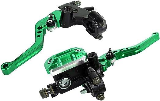 7 8 22mm Sport Bike Einstellbare Bremse Kupplungshebel Mit Hydraulische Hauptbremszylinder Reservoir Für Motorrad Tuning Grün Auto