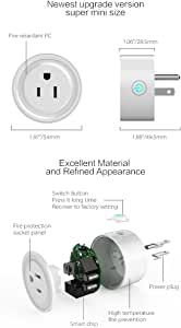 2017 updated Smart Wifi Plug Compatible with Alexa, Control Your Devices from Anywhere 2-pack Compatible with Alexa & Google Home