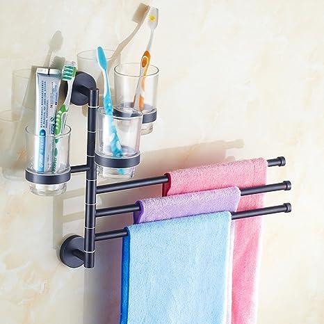 Actividades de cobre toallero/toallero de barra/Rotary soporte de vaso para cepillos de