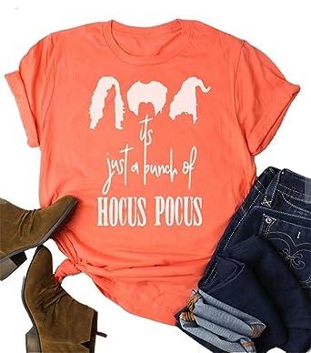 c2760778de7 Amazon.com: It's Just A Bunch of Hocus Pocus Women's Halloween T ...