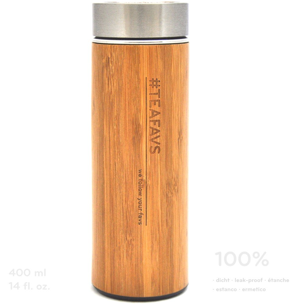 jarra térmica de bambú, minimalista y ecológica 500 ml