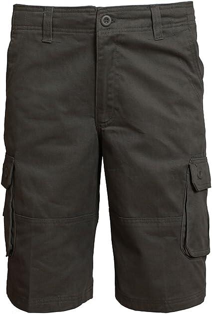 Allthemen - Pantalones cortos tipo chino con bolsillos para hombre
