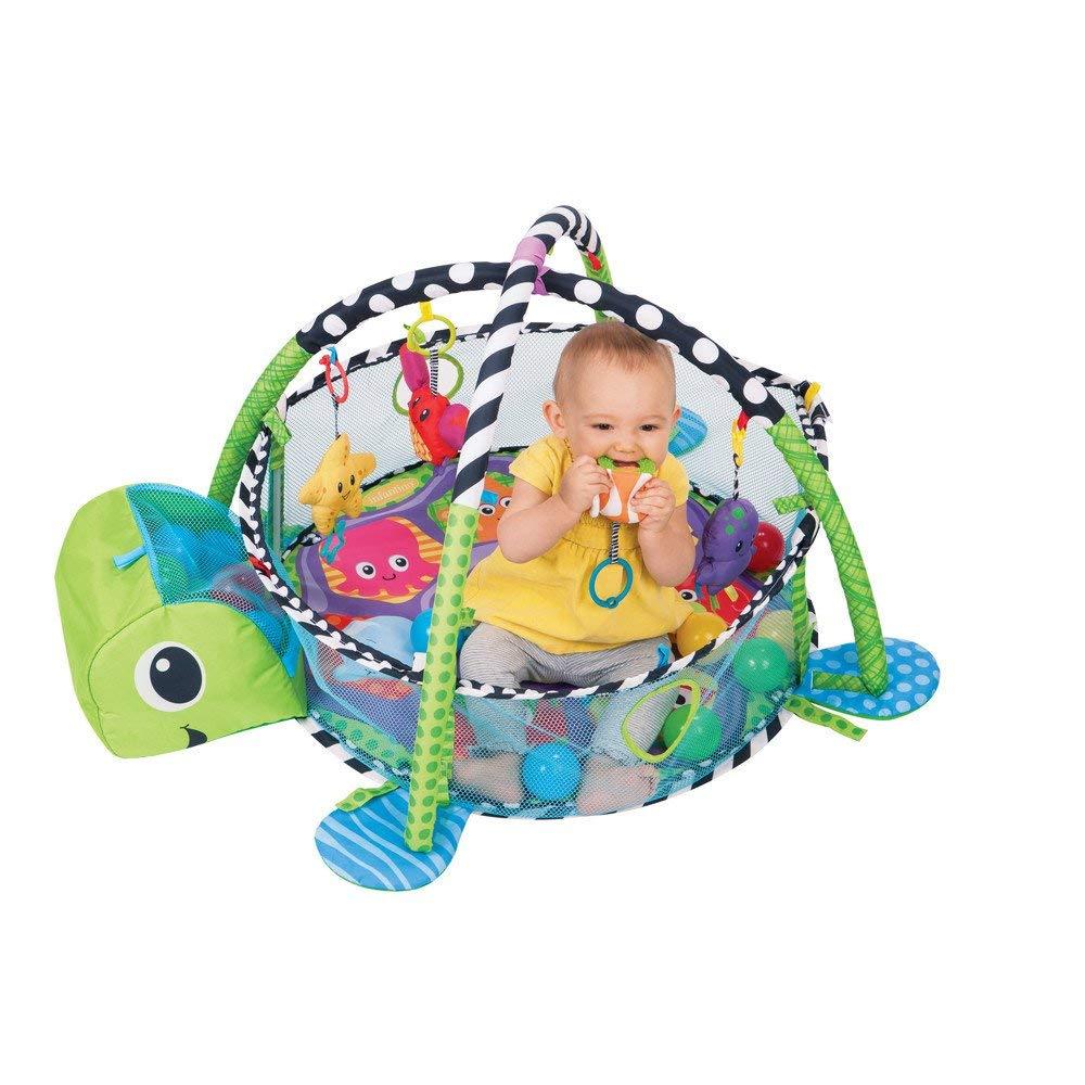 Jueven カメクロールマット多機能赤ちゃん反尿ゲームパッドマリンゲームフロアマットクライミングマット赤ちゃんの活動プレイジム幼児教育玩具メッシュサイド   B07MN6GV4T
