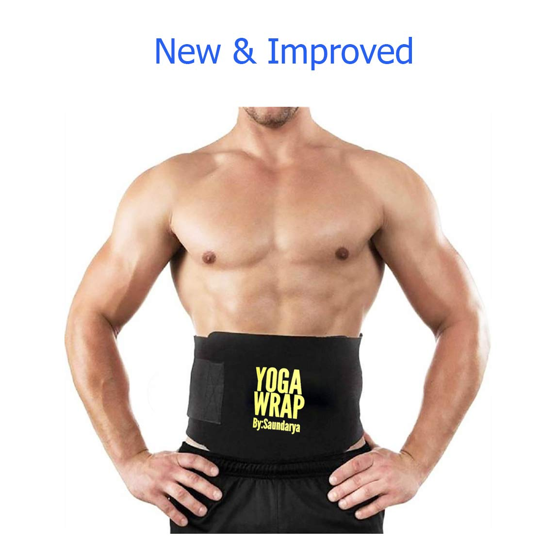 75b1e4dcccc Saundarya Yoga Wrap Sweat Belt Tummy Trimmer for Men and Women product image