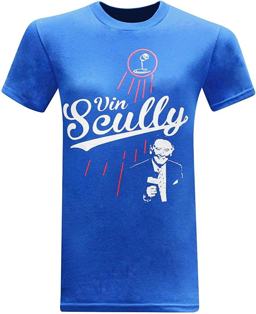 tees geek Vin Scully Baseball Hall of Fame Broadcaster Mens T-Shirt