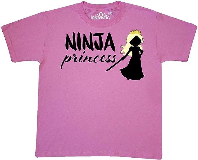 inktastic Ninja Princess-Blond Silhouette Youth T-Shirt