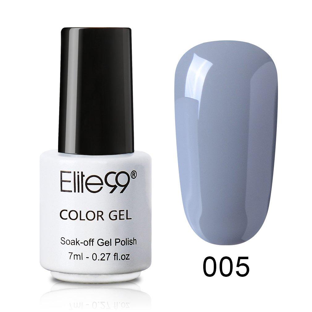 Elite99 Esmalte de Uñas, Esmaltes Semipermenentes para Uñas, Soak off Pintauñas de Color Gris Elegante para Manicura, Tamaño pequeño 7ml - 008: Amazon.es: ...