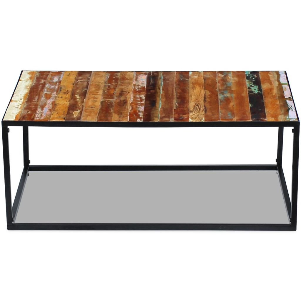 Amazon com tidyard industrial vintage end side coffee table handmade living room furniture solid reclaimed wood 39 4 x 23 6 x 15 7 kitchen dining