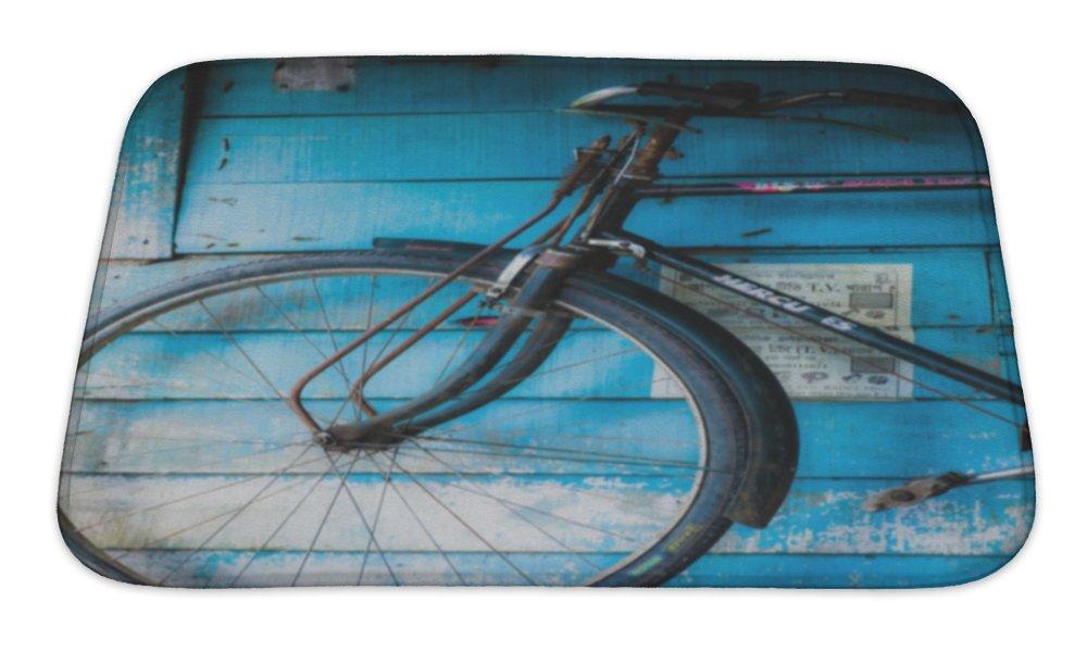 Gear New Vintage Bicycle in India Bath Rug Mat No Slip Microfiber Memory Foam