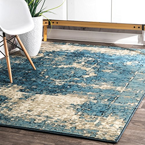 nuLOOM Traditional Vintage Inspired Overdyed Distressed Fancy Area Rug,  5' 3