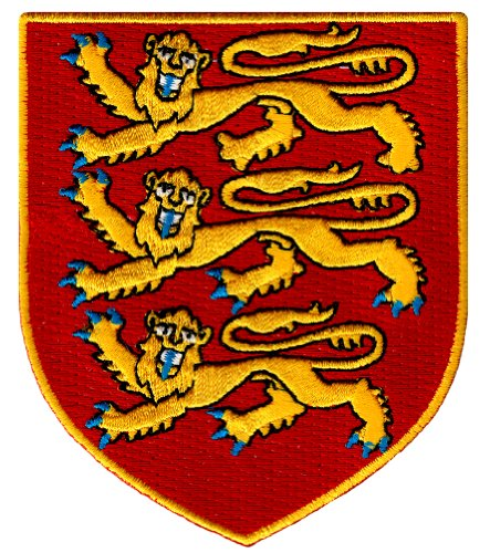 England Royal Coat Arms Patch British Lion Shield Embroidered Iron-On