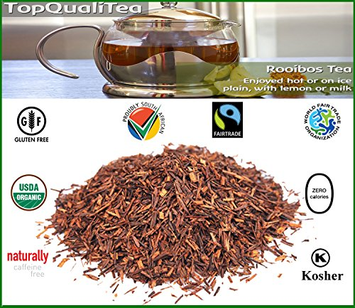 Buchu Rooibos Tea Bag |USDA Certified Organic | 100% Natural, Fair Trade, South African Herbal Beverage | 80 Teabags | Support for bladder and kidneys | Caffeine Free, Gluten Free by Topqualitea (Image #4)