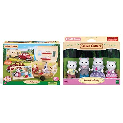 Calico Critters Caravan Family Camper with Persian Cat Family Bundle: Toys & Games