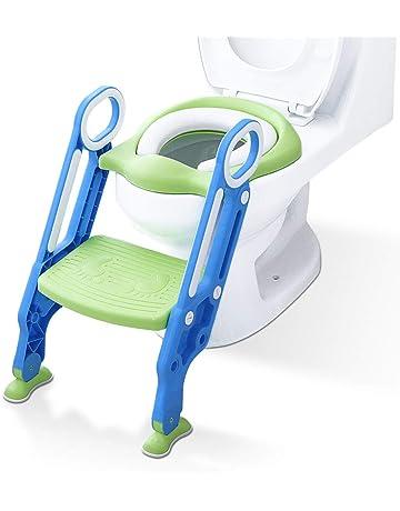 Aerobath Aseo Escalera Asiento Escalera del tocador de niños Asiento para WC con escalón plegable Orinal