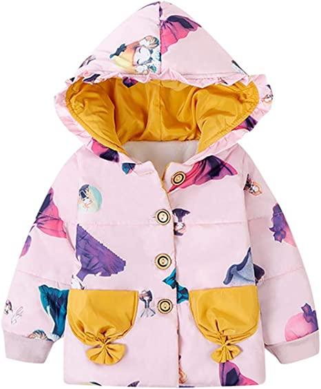 Baby Kids Boys Girls Thicken Fleece Coat Outerwear Warm Winter Jacket 0-4T New