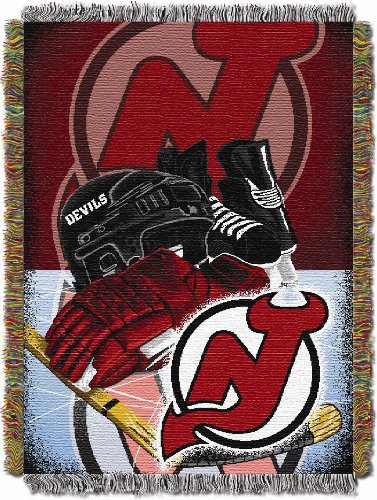 The Northwest Company NHL New Jersey Devils Homefield Ice Advantage Woven Tapestry Throw, 48