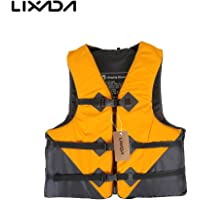 Goofly Professional Polyester Adult Safety Life Jacket Survival Vest Swimming Boating Drifting with Emergency Whistle