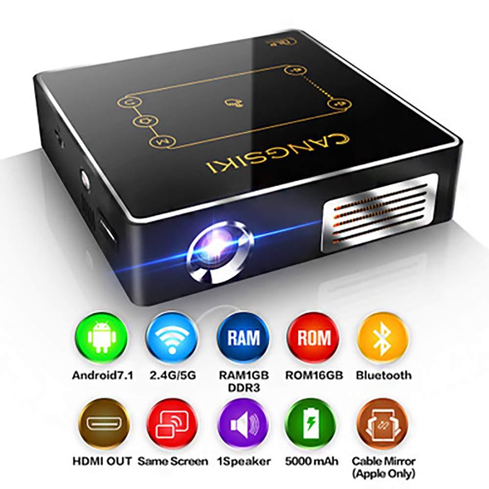 ミニプロジェクター、USB/HD/SD/AV / VGAインターフェースと互換性のある50,000時間のランプ寿命を持つポータブルホームシアタープロジェクターサポート1080P HD B07RLP6NNS