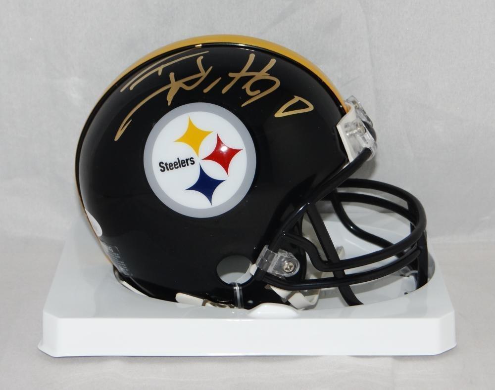 T.J. Watt Signed Mini Helmet - TJ Witnessed Auth *Gold - JSA Certified - Autographed NFL Mini Helmets Sports Memorabilia
