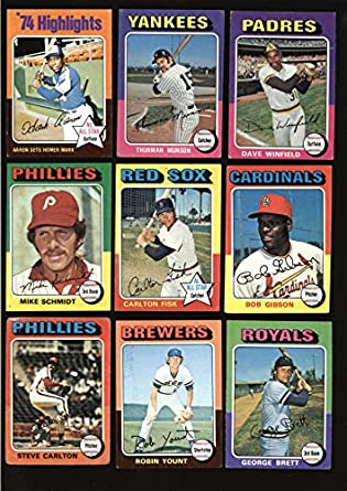 Amazoncom 1975 Topps Baseball Complete Set 660 Cards Ex