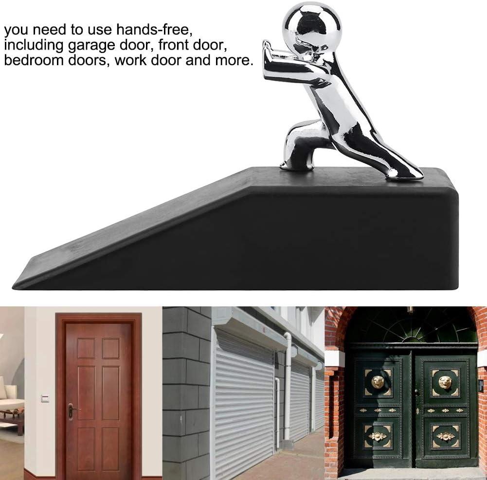Dibiao Door Stops for Floor,Non-Slip Rubber Bases Stopper Safe Anti-Collision Door Stop Novelty Design Decor Door Stoppers