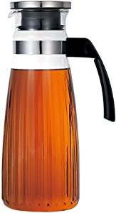 Glass pitcher Explosion-Proof Cooler Heat-Resistant Heat-Resistant Household Teapot Capacity 1300ml,Clear-1628.5cm