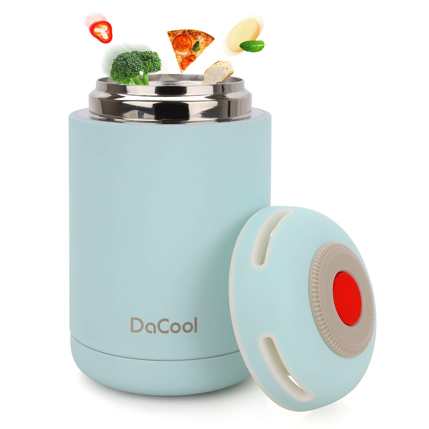 DaCool Hot Food Jar Vacuum Insulated Stainless Steel Thermos Food 16 oz School Lunch Containers for Kids Adult Office Leak Proof Keep Food Hot Cold Warm Container for Picnic Outdoors, BPA Free - Blue