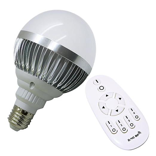 Lampada Led Con Telecomando.Usbonline E27 Lampadina Led Con Telecomando 12w 2700 Kelvin Bianco