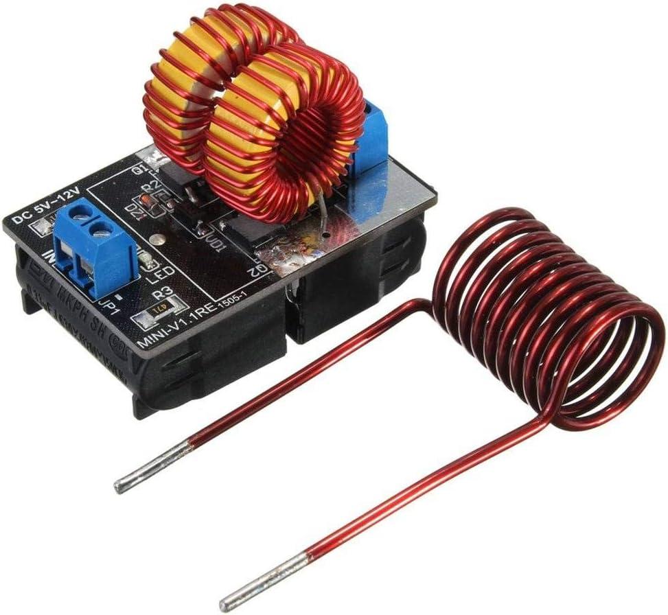 Profesional zvs de baja tensión Inducción Radiador Alimentación Módulo, DC 5V y 12V, 120W Calefacción Tabla, de calefacción de inducción Módulo de alimentación con calefacción Bobina