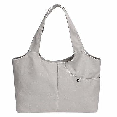 ef16db88b7 Zerototens Women Handbag Large Bag Totes Fashion Vintage Laides Classic  Pure Color Canvas Large Capacity Outdoor Bag With Pocket Shopping Handbags  Shoulder ...