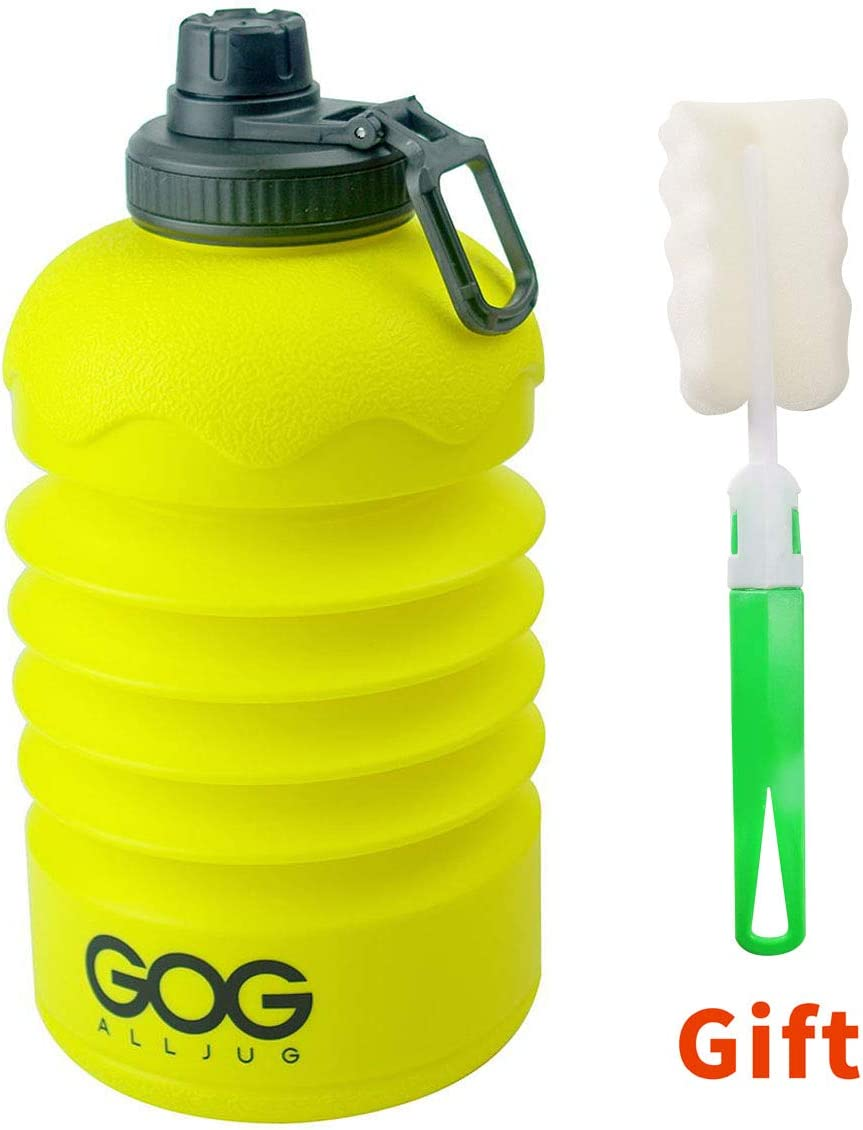 Wide Mouth Half Gallon Water Bottle for Travel Gym Camping Hiking GOGALLJUG 2.2L Collapsible Water Bottle-Reuseable Large Capacity 75 oz Water Bottle