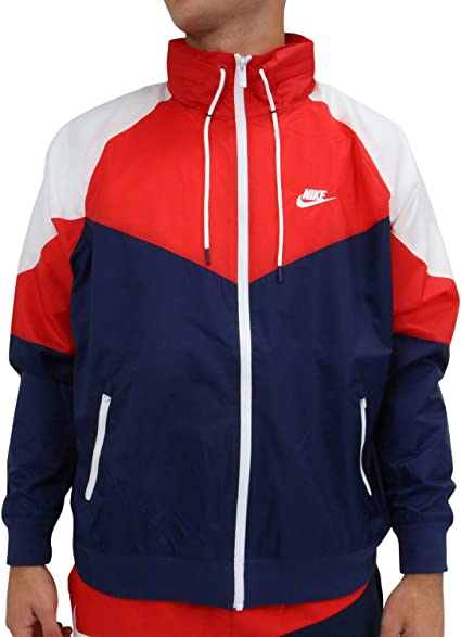 Nike Sportswear Windrunner Veste Homme, BleuRougeBlanc