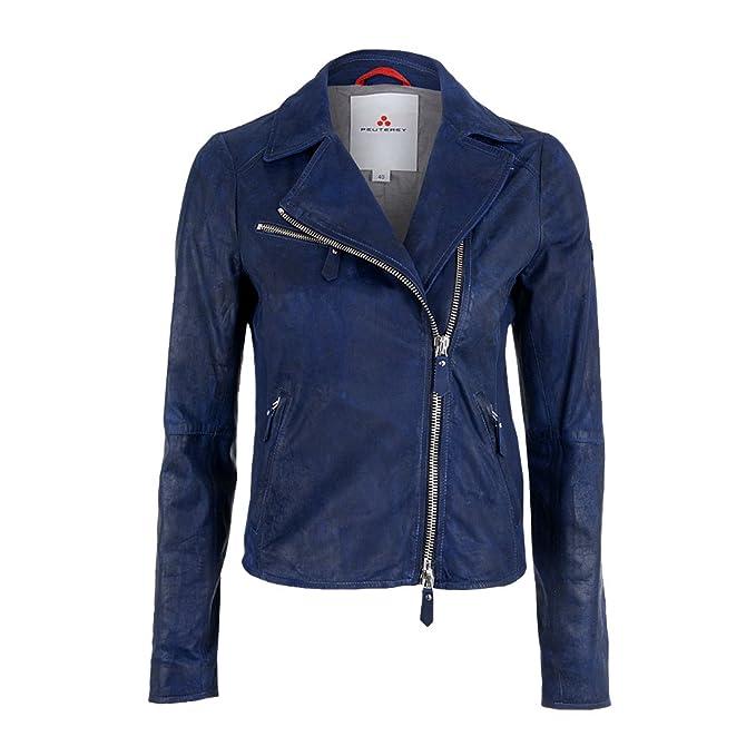 best service a8f70 7e765 Peuterey Char Bella Blu Giacca in Pelle Blu Blu: Amazon.it ...