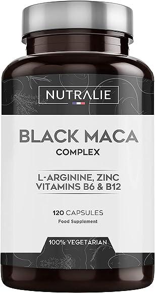 Maca nera peruviana equivalente a 24.000mg per dose da 1.200mg con l-arginina, zinco e vitamine b6 b12 | 120cp NUTMAC120