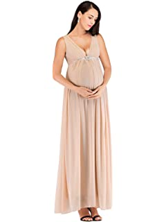 Ever Pretty Womens Double V Neck Elegant A Line Floor Length Long Empire Waist Chiffon Pregnant